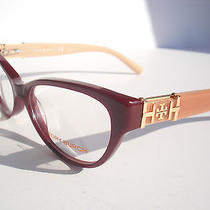 New Tory Burch Eyeglasses Ty 2045 Burgundy Blush 1336  Authentic 53-15-135 Photo