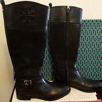 New Tory Burch 'Simone' Riding Boots Black Size 9m Leather 32148403 Photo