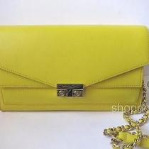 New Tory Burch T-Lock Clutch Crossbody 12159757 Sunshine Yellow Photo