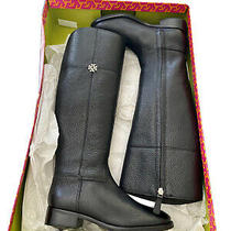 New Tory Burch Womens Jolie Riding Zip Up Knee High Boots Black Leather Sz 6. W Photo