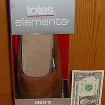 New Totes Elements Cognac Brown Slipper Gift Clog Men's Medium M 8-9 Slide Scuff Photo