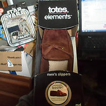 New Totes Elements Mens Microsuede Boater Indoor Outdoor Sole Medium 8-9 Gift Photo