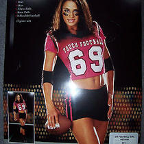 New Touch Football 69 Costume Mini Skirt Jersey Hot Pink Med Fantasy Stripper  Photo