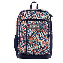 New Trans by Jansport Megahertz Blue Tie Dye Laptop Computer Backpack Photo