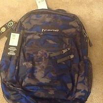 New Trans by Jansport Supermax Backpack 36l-2200 Gray Blue Photo