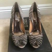 New Trendy Elegant Evening Badgley Mischka Sandals Heel Pump Sz 7.5 B Ret 235 Photo