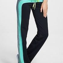 New Trina Turk Recreation Stripe Track Pant Seafoam Gray Black Size Xsmall Xs Photo