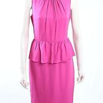 New Trina Turk -Size 8- Pink Peplum Work Dress-rrp248.00 Photo