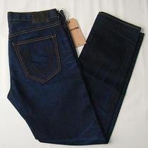 New True Religion Mens Kurt Skinny Dark Cast Iron Renegade Jeans Size 33 X 32 Photo