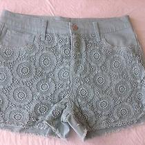New Twill Crochet Dolphin Shorts Mint Leaf Size 29 Photo