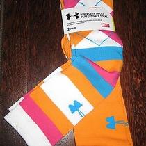 New Two Pair Under Armour Women's Knee High Performance Bright Color Socks Med Photo