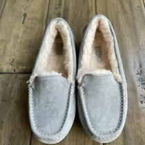 New Ugg Ansley Slippers 7 Gray Suede Shearling Photo