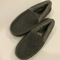 New Ugg Ascot Wool Loafer Slipper Indoor/outdoor Shoe - Size 8 - Gray  Photo