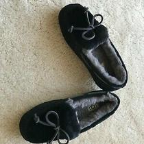 New Ugg Australia Comfort Leather Wool Lined Slippers Slide in 5 Eur 36 Black Photo
