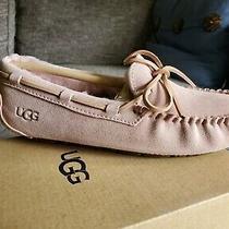 New Ugg Australia Dakota Moc Slippers Metallic Seashell Pink Us 5 Photo
