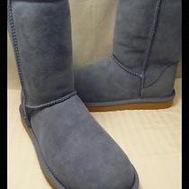New Ugg Australia Dolphin Blue Sheepskin Suede Leather Classic Short Boots 7 38 Photo