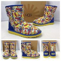 New Ugg Australia Kids/youth Classic Short Comic Boots Marvel Boom Sz 4 Sold Out Photo