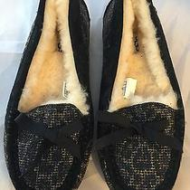 New Ugg Australia Rylee Black Moccasin Slipper Women Size 6 120    Photo