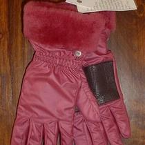 New Ugg Australia S/m Snowbyrd Combo Gloves Shearling Leather 100% Authentic Photo