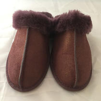 New Ugg Australia Scuffette 2 Wine Luster Leather Slippers Size 5  120 Photo