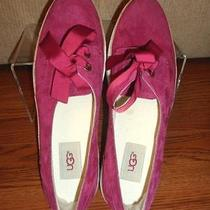 New Ugg Australia Women's Suede Raspberry Ribbon Lace Sneaker Shoes Size 10 M Photo