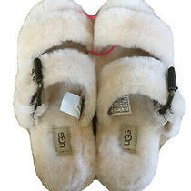 New Ugg Double Strap Slippers/sandals Slides Cream Size 7 or 8 Photo