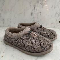 New Ugg Freesia Cable Knit Slippers in Stormy Grey Sz Small 2-3 Runs Small Photo