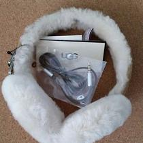 New Ugg Genuine Shearling Headphone Earmuffs Chestnut Iphone Android Winter Usa  Photo