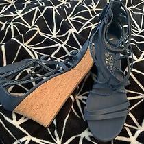 New Ugg Koolaburra Shoes - Aviana Wedge Cork Sandals  Color Blue Size 9 Usa Photo