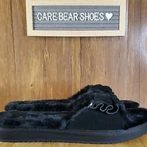 New Ugg Koolaburra Women's Blue Fur Ishani Slide Slipper Size 12 Photo
