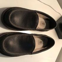 New Ugg Mens Leather Dex Slippers Loafers W Wool Lining - China Tea Brown Sz 13 Photo