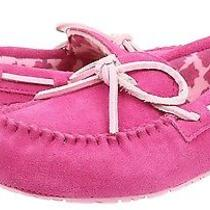 New Ugg Slippers Big Girls Youth Size 5 Suede Moccasins Pink Slip-on Ryder Rose Photo