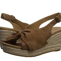 New Ugg Women Camilla Wedged Espadrille Suede Bow Slingback Sandal Chestnut Us 8 Photo