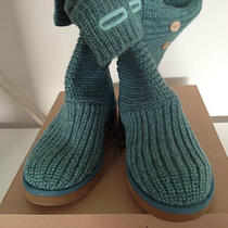 New Ugg Women's Classic Cardy - Pool Blue Size 7 (Style 5819) in Box W Tags Photo