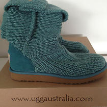 New Ugg Women's Classic Cardy - Pool Blue Size 8 (Style 5819) in Box W Tags Photo