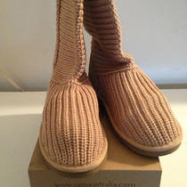 New Ugg Women's Classic Crochet - Sand Size 6 (Style 5817) in Box W Tags Photo