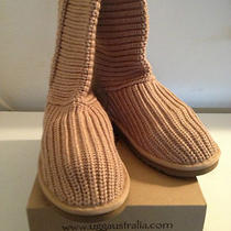 New Ugg Women's Classic Crochet - Sand Size 7 (Style 5817) in Box W Tags Photo