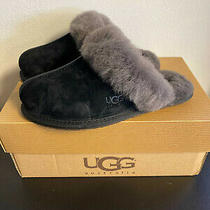 New Ugg Women's Scuffette Ii Slipper in Black and Grey- Size 5 Photo