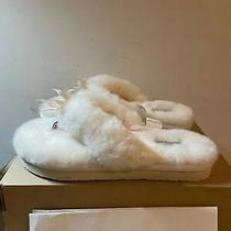 New Ugg Womens Slipper Fluff Flip Flop Iii Natural Color Size 7 Style 1100250 Photo