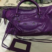 New Ultra Violet Classic Balenciaga City Handbag Photo