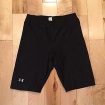 New Under Armour Athletic Fitted Bike Shorts Size S Black Bermuda Photo