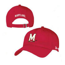 New Under Armour Classic Structured Adjustable Hat - Maryland Terrapins - Red M Photo