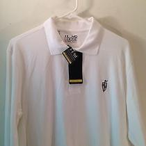 New Under Armour Heat Gear Upf 50 Loose Fit White Long Sleeve Polo Shirt Medium Photo