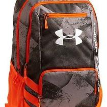 New Under Armour Hustle Storm Backpack 1256953 Graphite/black/blaze Photo