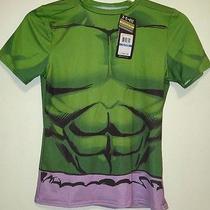 New Under Armour Marvel Incredible Hulk Alter Ego Shirt Youth Xl 1246521 Boys Photo