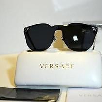 New Unique Rimless Authentic Versace Sunglasses Ve2120 100087 Ve 2120 Italy Photo