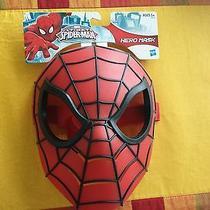 New Unisex Marvel Ultimate Spider-Man Hero Costume Mask by Hasbro One Size  Photo