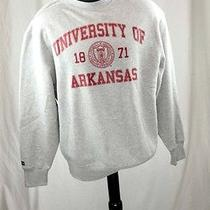 New University of Arkansas Hoodie Jacket Grey Large College Sweatshirt Photo
