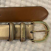 New Unworn Ralph Lauren Gold Leather Size Small Belt Photo