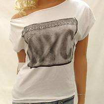 New Urban Outfitters Chaser Gradient Amp Fender Off Shoulder Tee Size Small Photo
